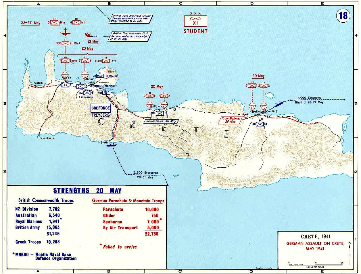German assault on Crete Bataille de Crete