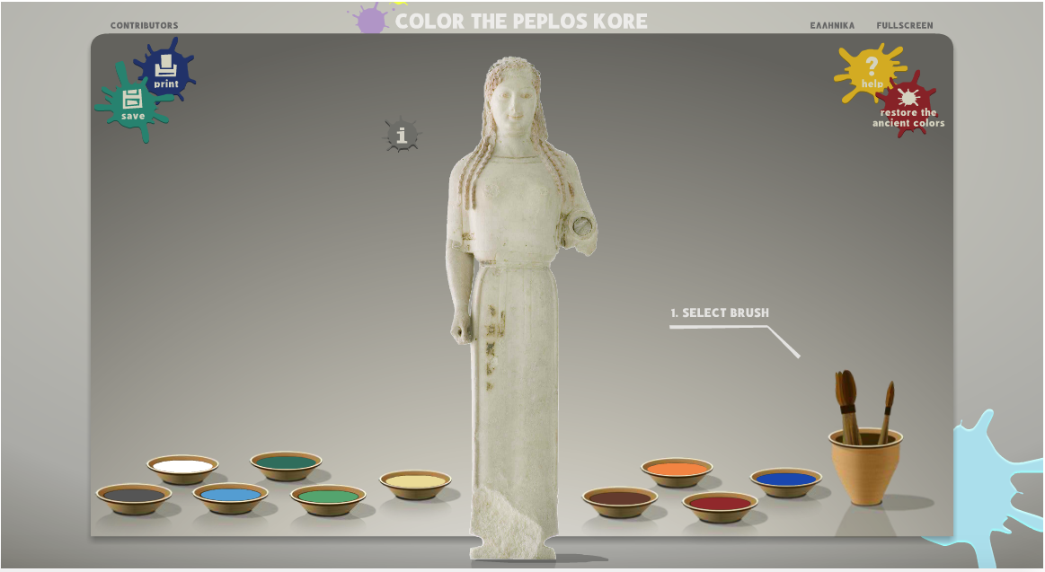 color the peplos kore